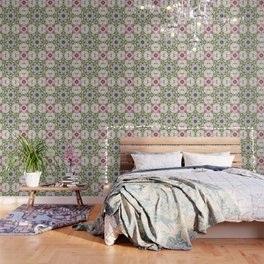 Orchids And Stone Wall Kaleidoscope 1764 Wallpaper