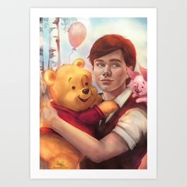 The boy and his friend  Art Print