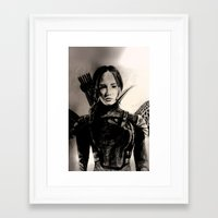 mockingjay Framed Art Prints featuring MOCKINGJAY by shochat