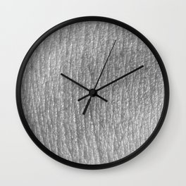 Human skin texture close Wall Clock