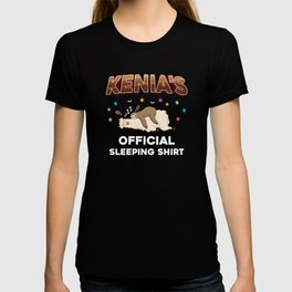 Kenia Name Gift Sleeping Shirt Sleep Napping T-shirt