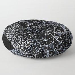 Organometric Primes 1.Black  #decor #geometric Floor Pillow