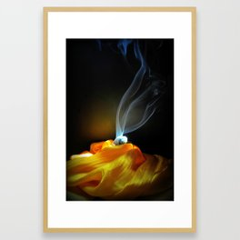 Yellow Silk Framed Art Print