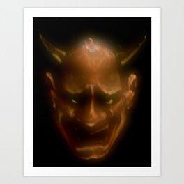 Hannya demon Art Print