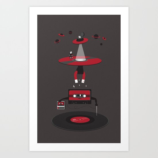 And The Music Passed On Art Print