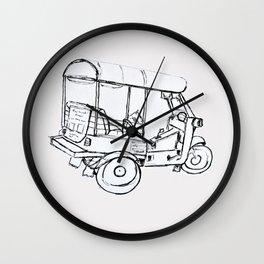 Tuk Tuk Thailand Wall Clock