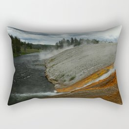 Thermal Geyser Runoff Into Firehole River Rectangular Pillow
