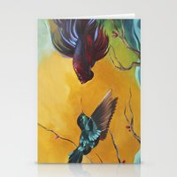 foo fighters Stationery Cards featuring The Fighters by Kathy Webber
