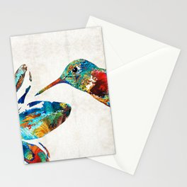 Colorful Hummingbird Art by Sharon Cummings Stationery Cards