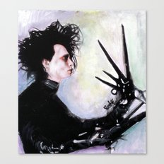 Edward Scissorhands: The story of an uncommonly gentle man. Canvas Print