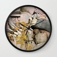 jazz Wall Clocks featuring JAZZ by Andreas Derebucha