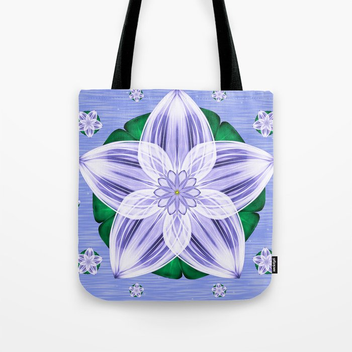 Frozen Floating Flower Tote Bag