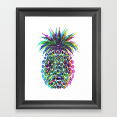 Pineapple CMYK Framed Art Print