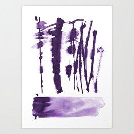 Decorative strokes Art Print