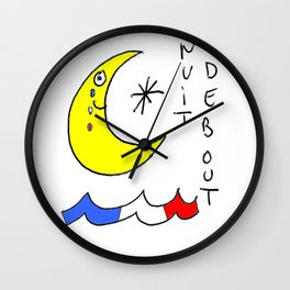 Nuit debout (Standing Night) Wall Clock
