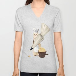 Ferret and Frosting Unisex V-Neck