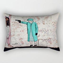 Street Art London Queen Thug Urban Wall Graffiti Artist Prolifik Rectangular Pillow