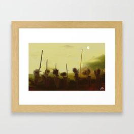 guerreros Framed Art Print