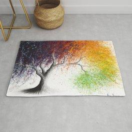 Rainbow Seasons Tree Rug
