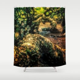 The roots of the jungle Shower Curtain