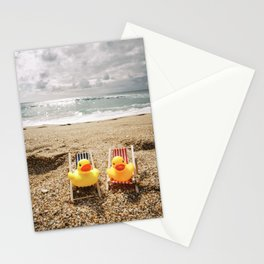 Rubber ducks on holiday. Stationery Cards