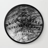 ouija Wall Clocks featuring Modern Ouija by Capadochio