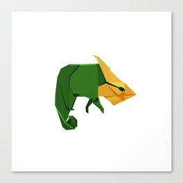 Origami Chameleon Canvas Print