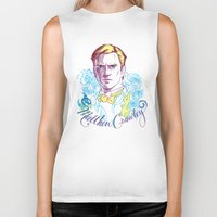 downton abbey Biker Tanks featuring RIP Matthew Crawley, of Downton Abbey.  by Erin Gallagher Illustration and Design