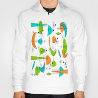 mid century Hoodies featuring Mid-Century Modern Space Age by Kippygirl
