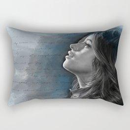 Camila Digital Painting with Bad Things Lyrics Rectangular Pillow