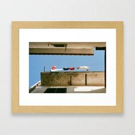 Lingering Laundry Framed Art Print