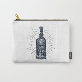 Adventure Starts Where Plans End Carry-All Pouch