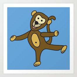 © Little Monkey dancing Art Print