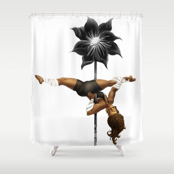 Pennys Shuriken Pole Dance Shower Curtain