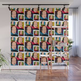 SIR WILLIAM SHAKESPEARE - COLOURFUL, 4-UP POP ART ILLUSTRATION Wall Mural