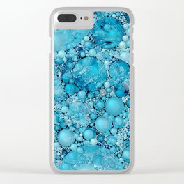 Ocean Atlantic Blue Bubble Abstract Clear iPhone Case
