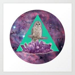 Owl Crystal Art Print
