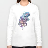 rainbow Long Sleeve T-shirts featuring octopus  by Laura Graves