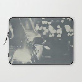City Traffic in black and white Laptop Sleeve