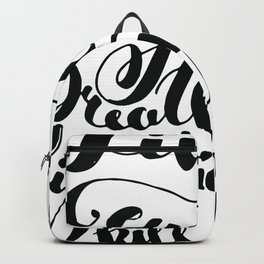Beauty quote - Hand-lettering - Eyeliner, lipstick - Girl boss Backpack