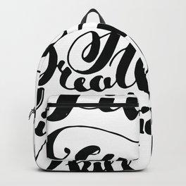 Beauty quote - Hand-lettering - Eyeliner, lipstick - Girl boss Backpack