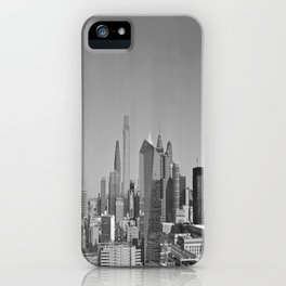 Black and White Philadelphia Skyline iPhone Case