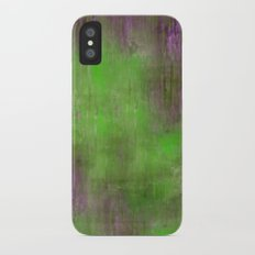 Green Color Fog iPhone X Slim Case