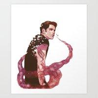 stiles Art Prints featuring tattooed stiles by steammmpunk