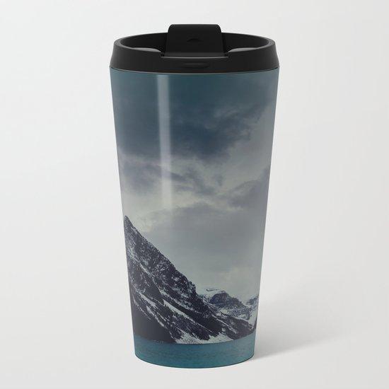 Lake Louise Winter Landscape Metal Travel Mug