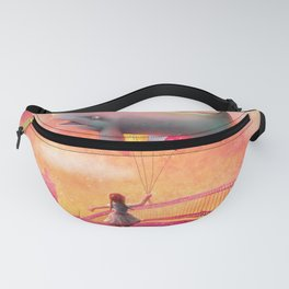 Whale and Balloons Fanny Pack