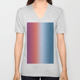 Ombre Clouds 1 Reversed Unisex V-Neck