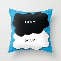 fault in our stars Throw Pillows featuring the fault in our stars by lizbee