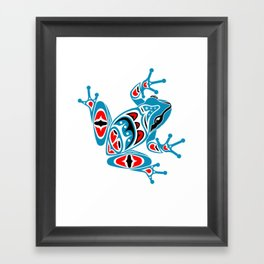 Frog Pacific Northwest Native American Indian Style Art Framed Art Print
