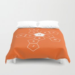 Orange Unrolled D12 Duvet Cover